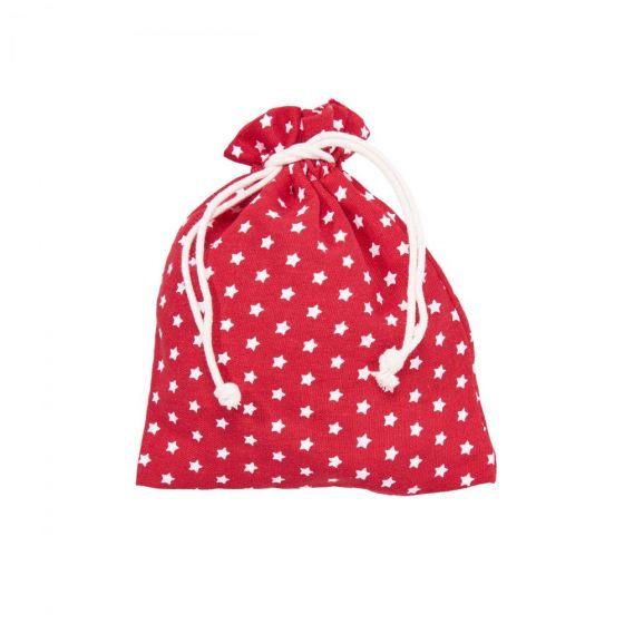 PACK-A-BAG - πουγκί με αστέρια 14x18cm κόκκινη