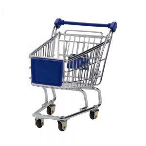 SUPERMARKET - καροτσάκι αγορών μικρό, μπλε
