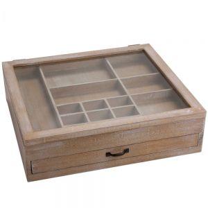 GUTENBERG - κουτί αποθήκευσης από ξύλο, 40,5x36,5xH11cm