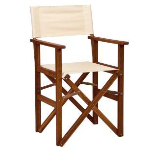 HOLLYWOOD - καρέκλα σκηνοθέτη σε φυσικό και κρεμ χρώμα