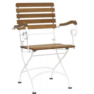 PARKLIFE - πτυσσόμενη καρέκλα με μπράτσα λευκή
