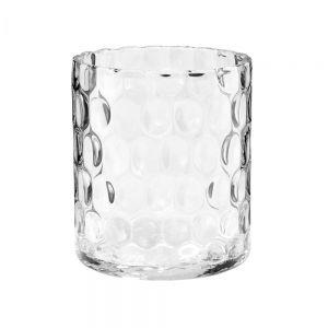AGATA - διαφανές βάζο 17cm