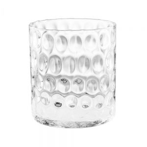 AGATA - διαφανές βάζο με κουκκίδες 22cm