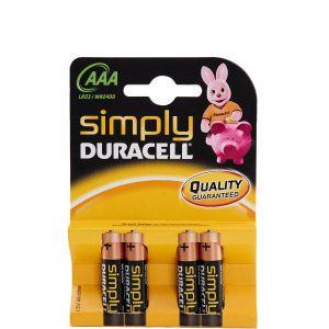 DURACELL - μπαταρίες σετ των 4τμχ AAA