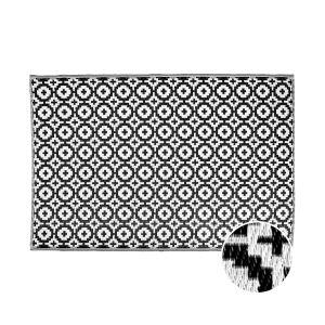 COLOUR CLASH - χαλί μωσαϊκό μαύρο 180x120cm