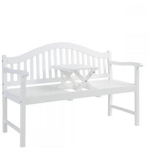 BANQUETTE - παγκάκι με πτυσσόμενο τραπέζι, λευκό