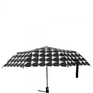 RAIN OR SHINE - πτυσσόμενη ομπρέλα μαύρη/λευκή