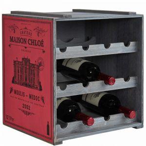 VINOTHEK - κάβα κρασιών σε κόκκινο χρώμα