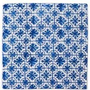 TERRACOTTA - σουβέρ με πλακάκια 20 cm, μπλε