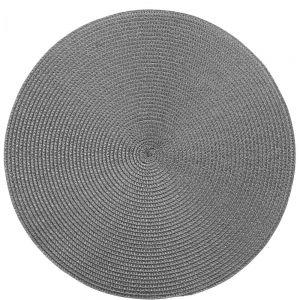AMBIENTE - σουπλά στρογγυλό 38cm σκούρο γκρι