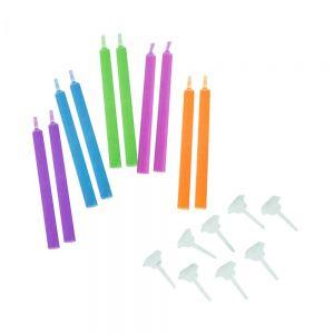 COLOUR GLOW - χρωματιστά κεριά 10 τμχ