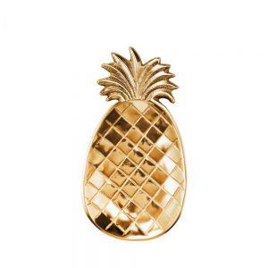 PINEAPPLE - διακοσμητική πιατέλα 25cm χρυσή