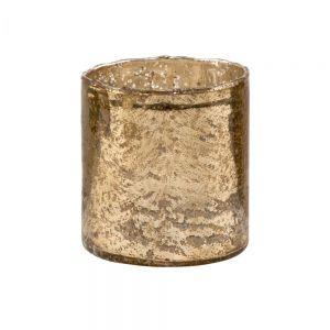 DELIGHT - γυάλινη βάση για ρεσό 11 cm, αντικέ χρυσό