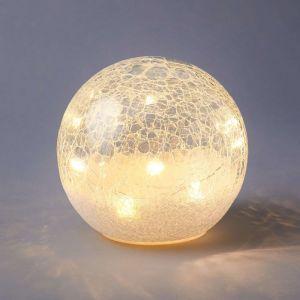 GLOW IN THE DARK - LED γυάλινη μπάλα Δ 15 cm