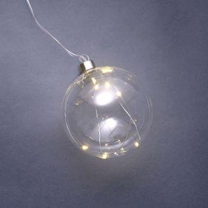 GLOW IN THE DARK - LED γυάλινη μπάλα Δ 12 cm