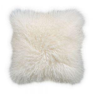 TASHI - μαξιλάρι από θιβετιανό αρνί 40x40 λευκό
