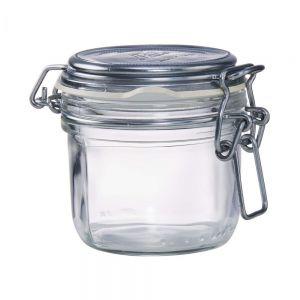 FIDO - βάζο 200ml μεταλλιζέ ασημί