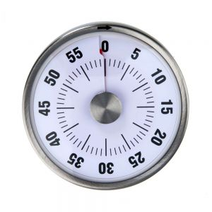 RIGHT ON TIME - χρονόμετρο με μαγνήτη, λευκό