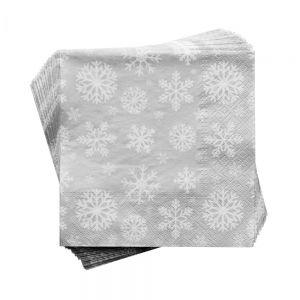 APRES - χαρτοπετσέτες χιονονιφάδα λευκή