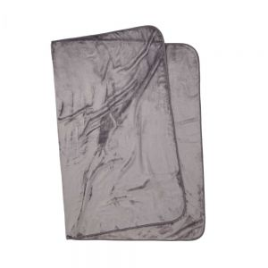 HUGS & KISSES - κουβέρτα μαλακής υφής 150x200cm γκρι
