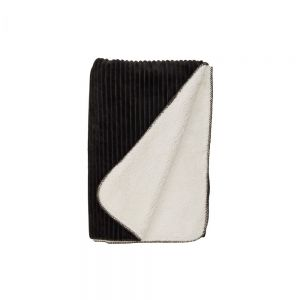 LORD OF CORD - κουβέρτα με ανάγλυφες ρίγες ανθρακί