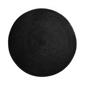 AMBIENTE - σουπλά στρογγυλό 38cm μαύρο