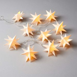 ORIGAMI - αλυσίδα με φωτάκια-αστέρια, λευκά
