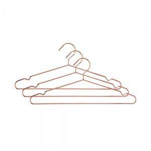 FASHIONISTA - κρεμάστρα για ρούχα ροζ-χρυσό 3τμχ