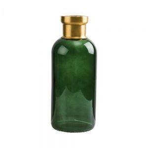 GRACE - βάζο 25cm πράσινο/χρυσό