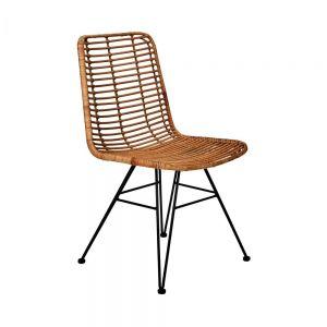 HACIENDA - καρέκλα από Rattan και μέταλλο