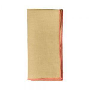 VARIADO - πετσέτα 42x42cm κίτρινο/κοραλί