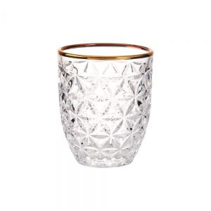 AURELIE - ποτήρι με χρυσό φινίρισμα, κρυστάλλινη εμφάνιση