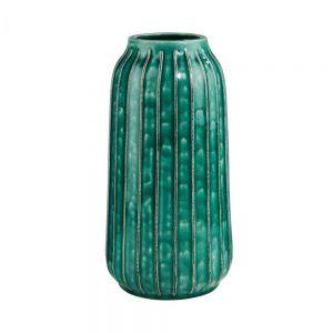 "WILD GREEN - διακοσμητικό βάζο ""κάκτος"" σε τιρκουάζ χρώμα"
