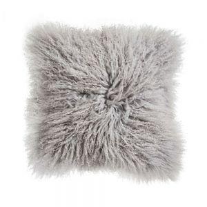 TASHI - μαξιλάρι από θιβετιανό αρνί 40x40 ανοιχτό γκρι