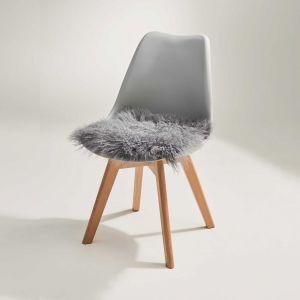 TASHI - κάλυμμα καρέκλας από θιβετιανό αρνί 40x40 γκρι