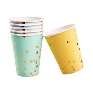 CELEBRATION - χάρτινο ποτήρι με σχέδιο κονφετί σετ των 6 τεμ