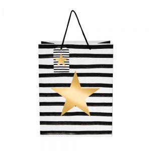 X-MAS - τσάντα δώρου αστέρι μεγάλη