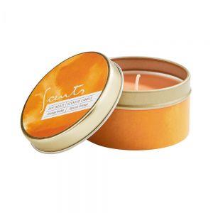 SCENTS - αρωματικό κερί σε μεταλλικό κουτί, πορτοκάλι/μπαχαρικά