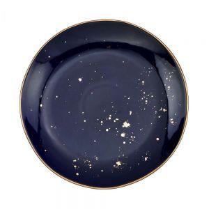 GOLDEN GLAZE - πιάτο φαγητού Δ 28 cm μπλε