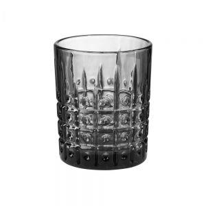 MONT FLEURI - ποτήρι με μοτίβο κουκκίδες 270ml μαύρο