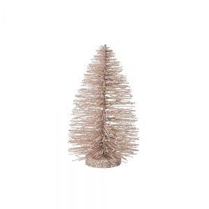 X-MAS - Διακοσμητικό Χριστουγεννιάτικο δεντράκι σε κρεμ χρώμα,22 cm