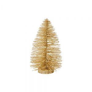 X-MAS - Διακοσμητικό Χριστουγεννιάτικο δεντράκι σε χρυσό χρώμα,22 cm