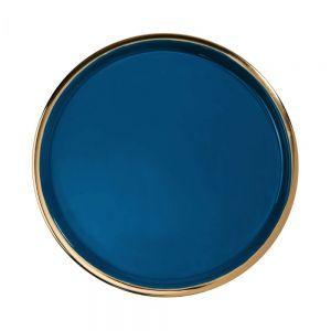 EMILIE - διακοσμητικό πιάτο 36 cm σκούρο μπλε