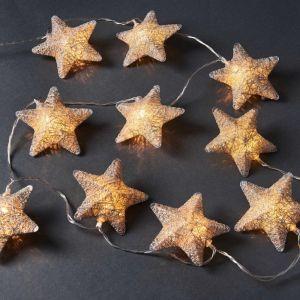 IN THE SKY - φωτεινή αλυσίδα με αστέρια ασημί