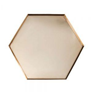 EMILIE - διακοσμητικός δίσκος 48cm χρυσός