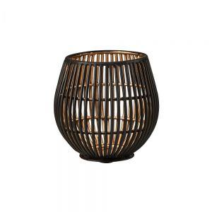 YOKO - Μεταλλική βάση για κερί ρεσό σε μαύρο χρώμα, 9cm