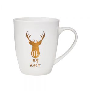 """WHITE XMAS - κούπα """"oh my deer"""""""