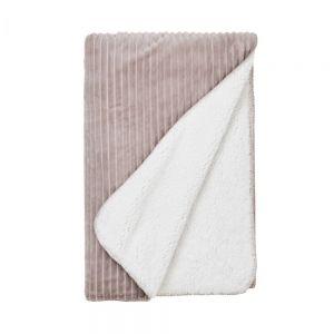 LORD OF CORD - κουβέρτα με ανάγλυφες ρίγες ταμπά