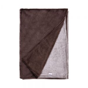 LOFT - κουβέρτα 150x200cm ριγέ καφέ