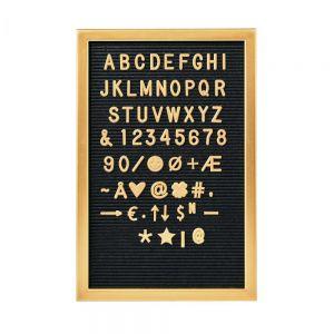 MESSAGE BOARD - πίνακας με γράμματα 45x30 cm χρυσός